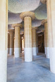 Column hall of Parc Guell, Barcelona Royalty Free Stock Photos