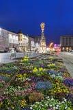 Column on Hauptplatz in Linz Royalty Free Stock Photography