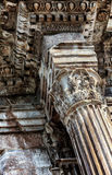 Column head. Detail of the column in the arch of Constantine in Roma Royalty Free Stock Photography