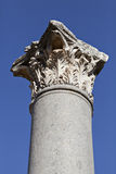 Column head, Ephesus, Izmir, Turkey. A Column head in Ephesus Royalty Free Stock Images