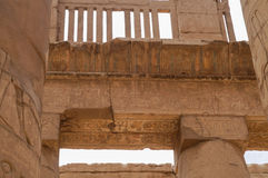 COLUMN HIEROGLYPHS KARNAK TEMPLE Stock Images