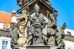 Column of the Holy Trinity, Figures of Saints, Prague, Czech Rep Stock Photography