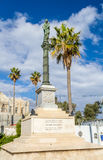 Column of Holy Virgin Mary, Stella Maris Monastery in Haifa Royalty Free Stock Image
