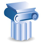 Column icon. Icon of a old style support like in Greece Stock Photography