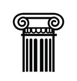 Column icon Royalty Free Stock Photos