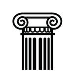 Column icon. Vector black illustration of column icon on white Royalty Free Stock Photos