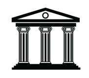 Column icon. Vector black illustration of column icon on white Stock Photography