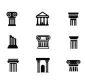 Column icon. Vector black illustration of column icon on white vector illustration