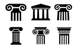 Column icons Stock Images