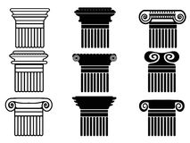Column icons set Royalty Free Stock Photos