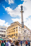 Column of the Immaculate Conception Colonna dell`Immacolata. Itality royalty free stock photo