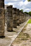 The  column incision. Mexico the  column incision in the old temple of chichen itza Royalty Free Stock Images