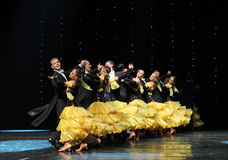 Column interlude-The French Cancan-the Austria's world Dance Stock Photos