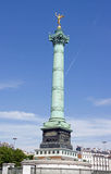 The Column of July and the Genie of Bastille Paris France. Stock Image