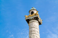 Column of Karlskirche, Charles Church, in Vienna, Austria Stock Images