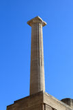 Column at Lindos Acropolis Stock Photos