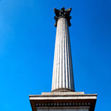 Column in london england old architecture and sky Royalty Free Stock Photo