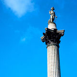 Column in london england old architecture and sky Royalty Free Stock Photography