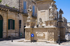 Column of Madonna delle Grazie. Maglie. Puglia. Italy. Royalty Free Stock Images