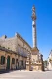 Column of Madonna delle Grazie. Maglie. Puglia. Italy. Stock Images