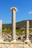 Column on Main street in ancient Lycian city Patara. Turkey Royalty Free Stock Images
