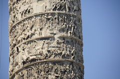 Column of Marcus Aurelius, Royalty Free Stock Image