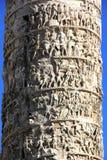 Column of Marcus Aurelius. Close up of Column of Marcus Aurelius in Piazza Colonna, Rome, Italy Stock Images