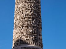 Column of Marcus Aurelius Royalty Free Stock Images