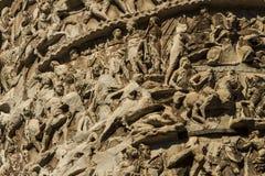 Column of Marcus Aurelius in Rome Stock Photography