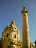 Column of Marcus Aurelius - Rome, Italy Royalty Free Stock Images