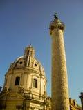 Column of Marcus Aurelius - Rome, Italy Royalty Free Stock Images