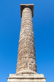 Column of Marcus Aurelius, Rome, Italy Stock Photos