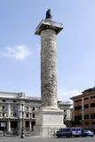 Column of Marcus Aurelius in Rome Stock Photography