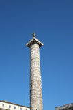The Column of Marcus Aurelius in Rome Royalty Free Stock Images
