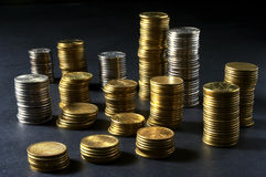 Column from money. Column from many money Royalty Free Stock Image
