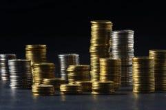 Column from money. Column from many money stock photos