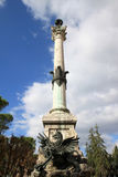 Column near Church of San Pietro, Perugia Stock Photos