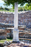 Column at Nicopolis ad Nestum. A ruined Roman town of the province of Thracia Thrace Royalty Free Stock Photography