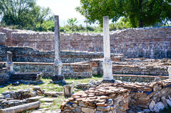 Column at Nicopolis ad Nestum. A ruined Roman town of the province of Thracia Thrace Stock Images