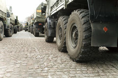 Column Of A Military Lorry Royalty Free Stock Image