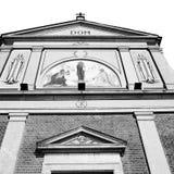 Column old architecture      in italy europe milan religion    Stock Photos