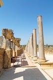 The column    old  stone   roman temple Stock Photo