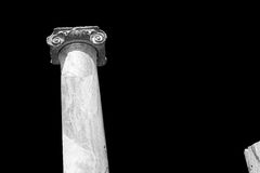 Column in old  temple and theatre in ephesus   antalya turkey as Stock Photo