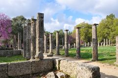 Column of Olympia and perspective Royalty Free Stock Images