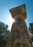 Column in Olympia - Sanctuary of ancient Greece Stock Photos