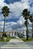 Column in park, Batalha, Portugal Stock Images