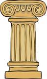 Column pedestal. On a white background vector illustration Royalty Free Stock Photos