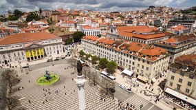 Column of Pedro IV in Rossio Square Royalty Free Stock Photos