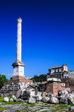 Column pf Phocas, Rome ancient ruins, Italy Royalty Free Stock Photo