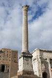 Column of Phocas in Rome Stock Photography